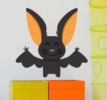 Wall sticker with a lovable bat - decoration that will perfectly decorate any children's room. High quality material and no stains upon removal!