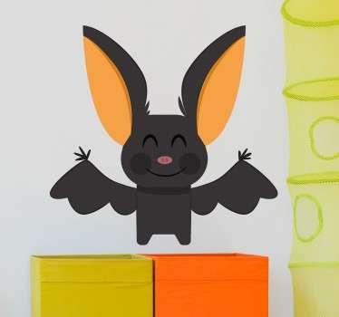 sticker amusant chauve souris applicable sur toutes surfaces et personnalisable.
