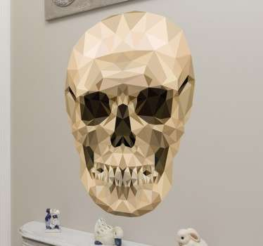 This modern design featuring a geometric image of a human skull is the perfect unique decorative wall sticker for your home!