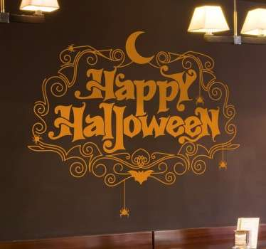 Decorative happy Halloween wall sticker to decorate any space to celebrate Halloween festival. It is available in any size.