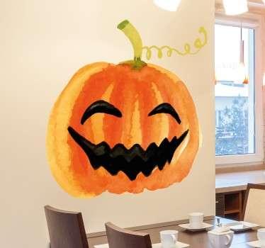 Wandtattoo Lachender Kürbis Halloween