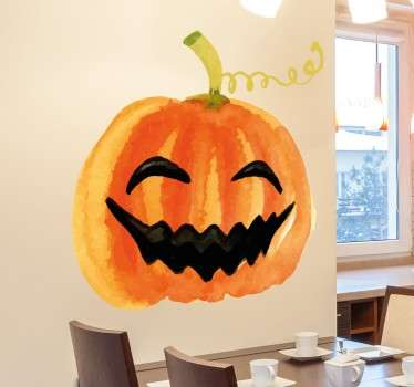 Vinil Halloween Abóbora sorrir