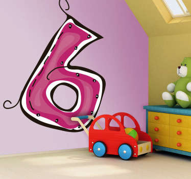 Numeri adesivi bambini numero sei