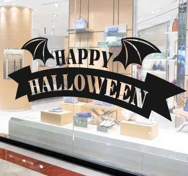 Happy Halloween Bat window sticker