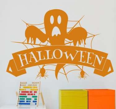 Vinilos halloween cartel fantasma