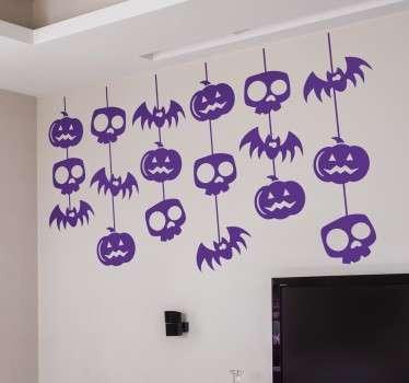 Roikkuva Halloween koristetarra