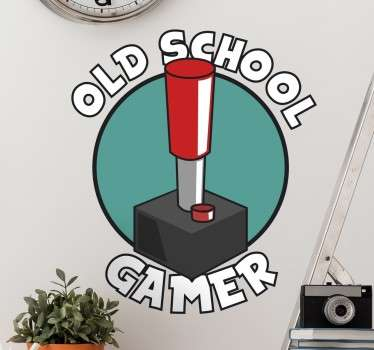 Gammel skole gamer vegg klistremerke
