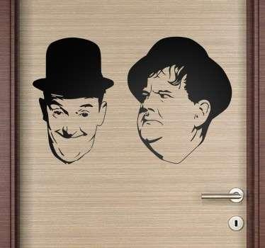 Sticker visage Laurel et Hardy
