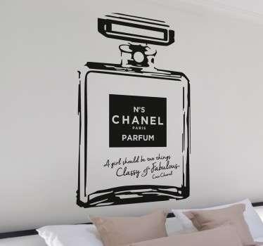Muursticker Nummer 5 Chanel Parfum