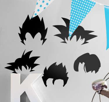Adesivi personaggi Dragon Ball capelli