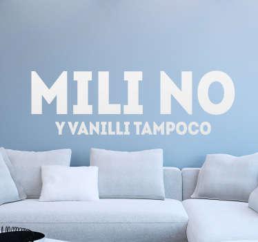 Vinilos divertidos Mili Vanilli