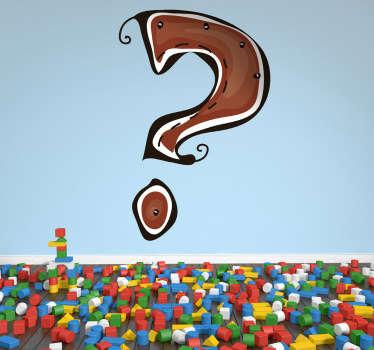 Spørsmålstegn vegg klistremerker for barn