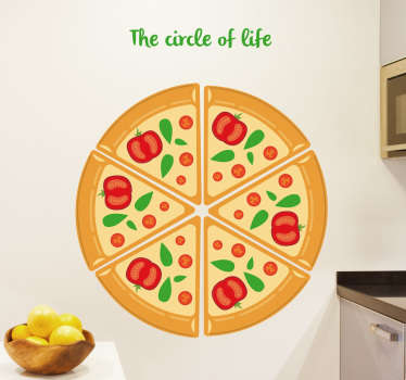 Muursticker Pizza The Circle of Life