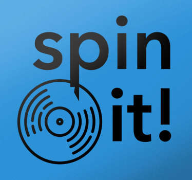 Wandtattoo Schallplatte spin it