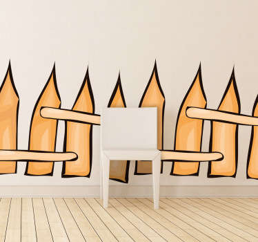 Kids Stickers -  A fence design to decorate the walls of a child´s room or play area.Designs ideal for decorating your home.