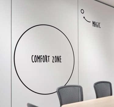 Zona de autocolant motivațională din zona de confort