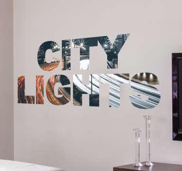 Vinilo decorativo City Lights