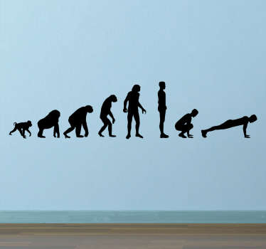 Muursticker Evolution to Burpee