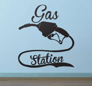Muursticker Gas Station