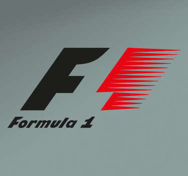 Pegatinas de deporte con el logotipo oficial del mundial de fórmula 1.