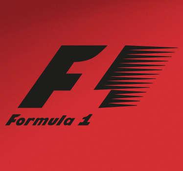 Vinilos de motor con el logotipo oficial del mundial de fórmula 1. Si te gusta el automovilismo y sigues el mundial.