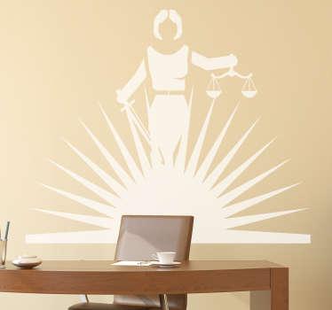 Shining Lady Justice Wall Sticker
