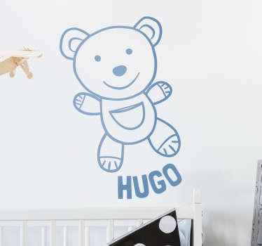 Adesivo personalizzabile orso peluche