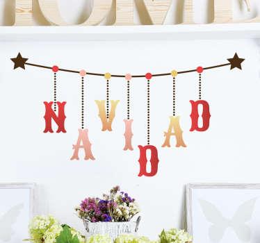 Vinilo decorativo colgante navidad