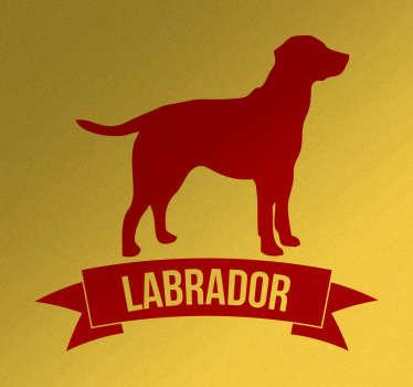 sticker chien et texte labrador
