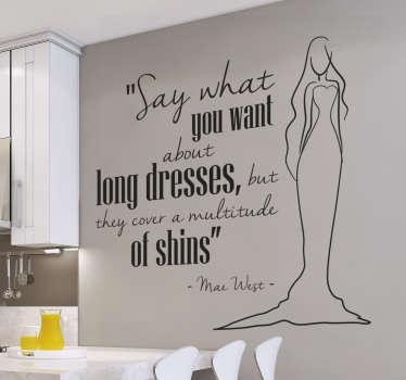 Wandtattoo Mae West Long dresses
