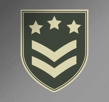Emblemat wojskowy naklejka