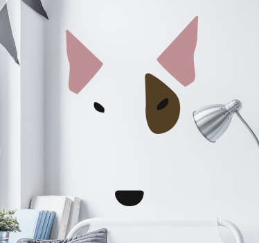 Bull Terrier Wall Sticker, a nice wall decoration for people who love Bull Terriers .