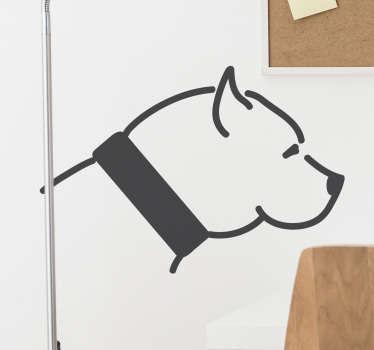sticker silhouette pitbull