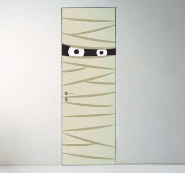 Naklejka na drzwi mumia
