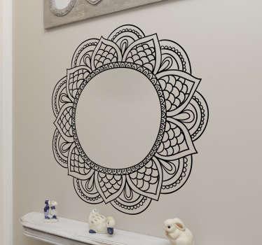 Bloempatroon decoratie stickers in slaapkamer - TenStickers