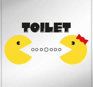 Vinilo toilet Pacman