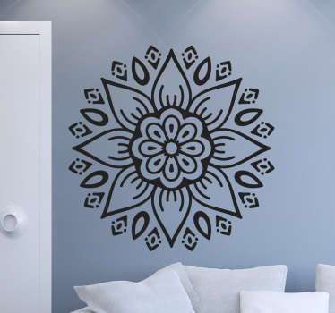 If you're a fan of all things boho-chic, then this floral design decorative wall sticker is the perfect addition to your home!