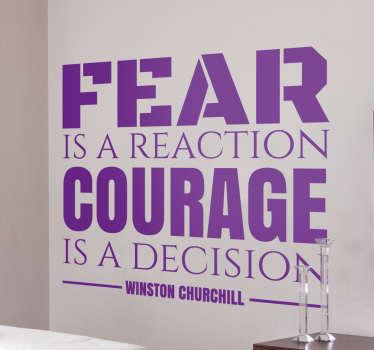 Muursticker citaat Churchill