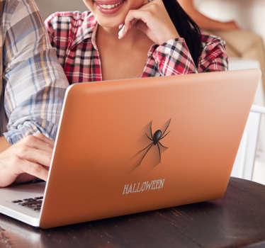 Naklejka ścienna pająk Halloween