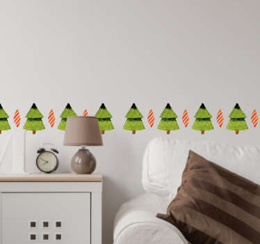 Christmas tree wall sticker. The holidays are coming up again, so get ready and decorate your home or business with these Christmas trees.