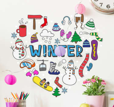 Get in the mood for winter this year with a decorative wall sticker. This fine piece of wall art is perfect for decorating your childs bedroom.