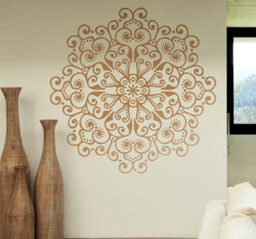 Vinilo pared mandala floral