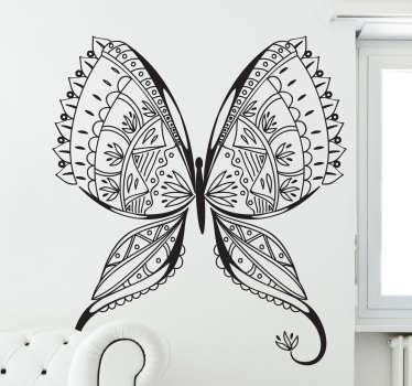 Vinil decorativo borboleta detalhada