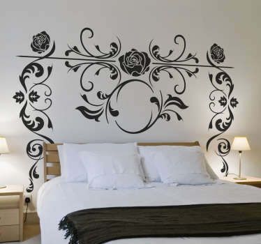 Wall Sticker with beautiful roses. This wall decoration is a great addition to any wall in the house. Creative way to bring home some more flowers.