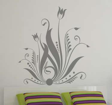 Vinilo floral abstracto para decorar