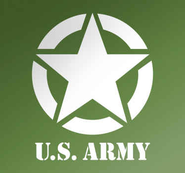 The star with the text below US ARMY is a cool wall decoration for anyone who admires the American forces.