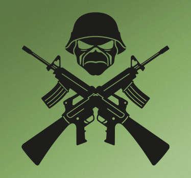 Sticker Iron Maiden militaire