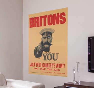 Adesivo poster Britons wants you