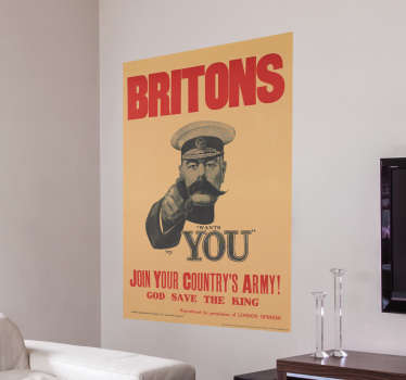 Wandtattoo Plakat Britons wants you