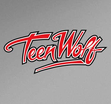 """Vinilos decorativos de películas de los años 80 con el logotipo de tu film favorito """"Teen Wolf""""."""